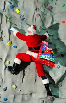 FREE PIC- Santa at Edinburgh Climbing Arena, 05/12/2013: FREE PIC- Santa at Edinburgh International Climbing Arena, 05/12/2013:  So that's how Santa gets fit for climbing down all those chimneys!  Santa at Edinburgh International Climbing Arena, Ratho, where his grotto with sleigh ride and soft play opens on Friday December 6th. It's all part of his new active lifestyle at Edinburgh Leisure, where he will also be appearing at soft play centres at The Royal Commonwealth Pool and Tumbles Portobello.   For further information please contact: Sarah Urquhart, Edinburgh Leisure PR Officer. Tel: 0131 458 2104 OR 07966 893 353 Photography from:  Colin Hattersley Photography - colinhattersley@btinternet.com - www.colinhattersley.com - 07974 957 388